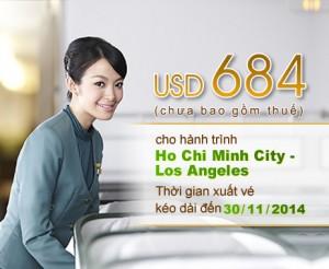 Eva Air khuyến mãi đặc biệt cho hành trình TP. HCM – Los Angeles
