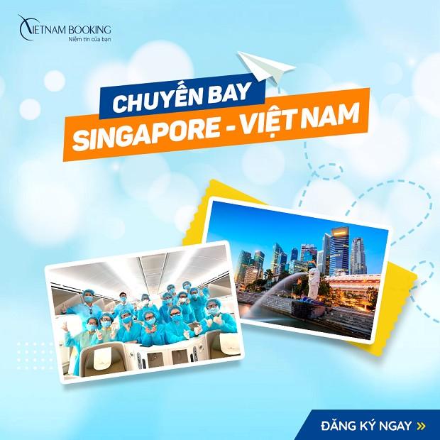Lịch bay từ Singapore về Việt Nam